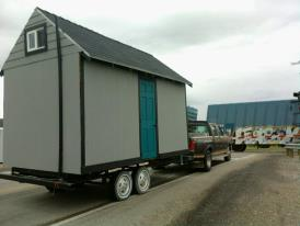 tiny house in route, very nerve raking. I didn't know how much it weighed or even how much it should weigh.